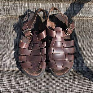 EUC TEVA Brown Gladiator Sandals- Size 7